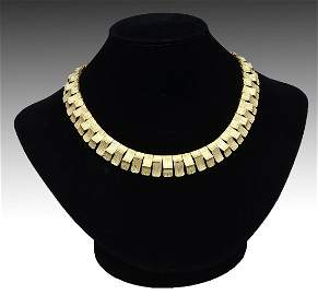 STUNNING 18K BRUTALIST COLLAR NECKLACE