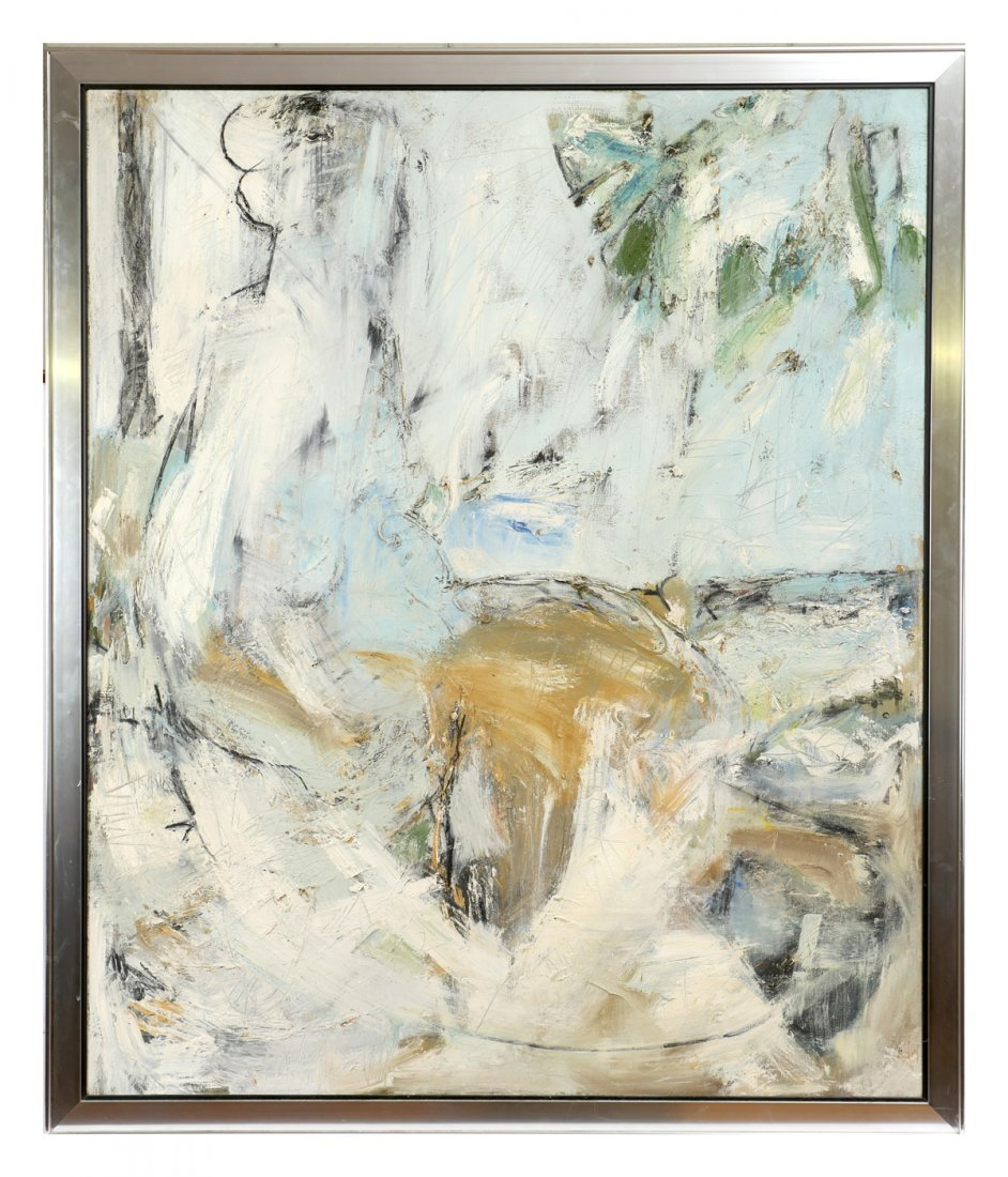 LARGE KENDALL SHAW MODERNIST PAINTING