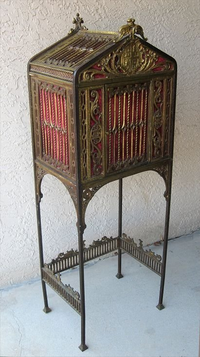 1003: WROUGHT IRON PHONE CABINET after OSCAR BACH