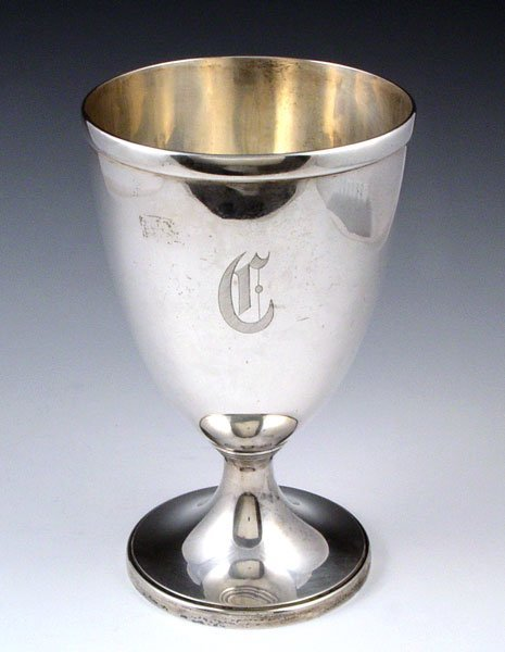 1017: TIFFANY & CO STERLING CHALICE VASE