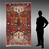 ANTIQUE N.W. PERSIAN OR CAUCASIAN HAND KNOTTED WOOL RUG