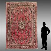 SEMI-ANTIQUE PERSIAN HAND KNOTTED WOOL RUG