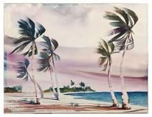 HAROLD ETTER FLORIDA COASTAL PALMS PAINTING