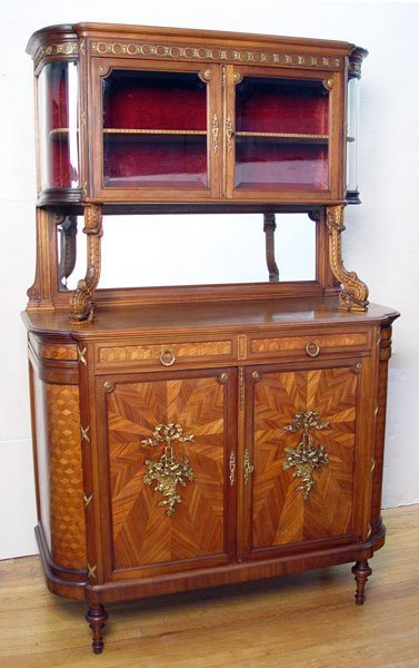 6: SUPER FRENCH PARQUETRY INLAY SIDEBOARD CABINET