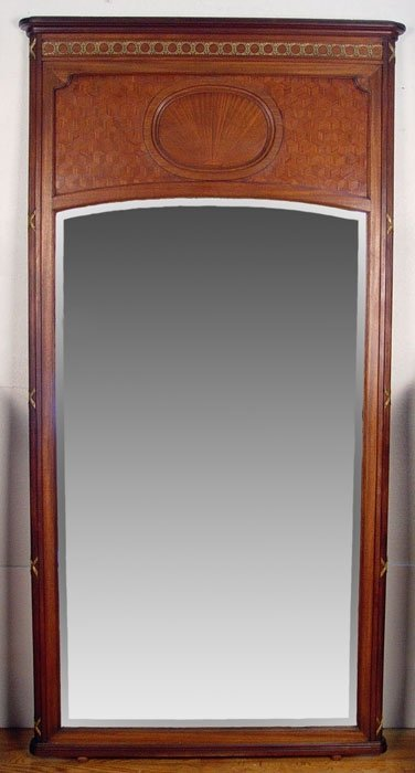 8: over 6 ft tall FRENCH ORMOLU MIRROR