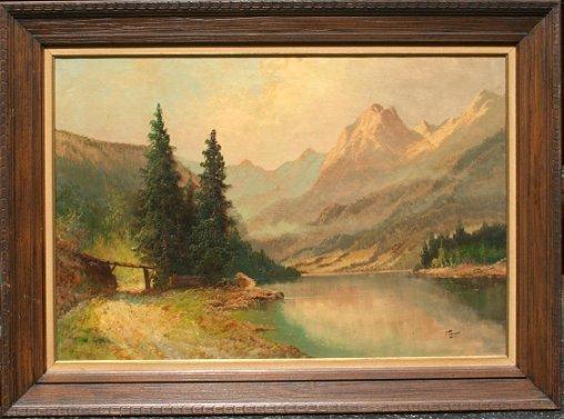 136: J. LANGE AUSTRIAN LANDSCAPE PAINTING
