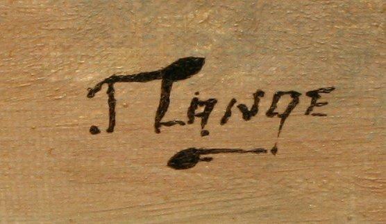136: J. LANGE AUSTRIAN LANDSCAPE PAINTING - 2