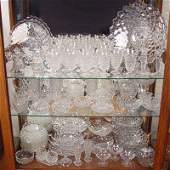 353 75  pc estate FOSTORIA AMERICAN GLASSWARE