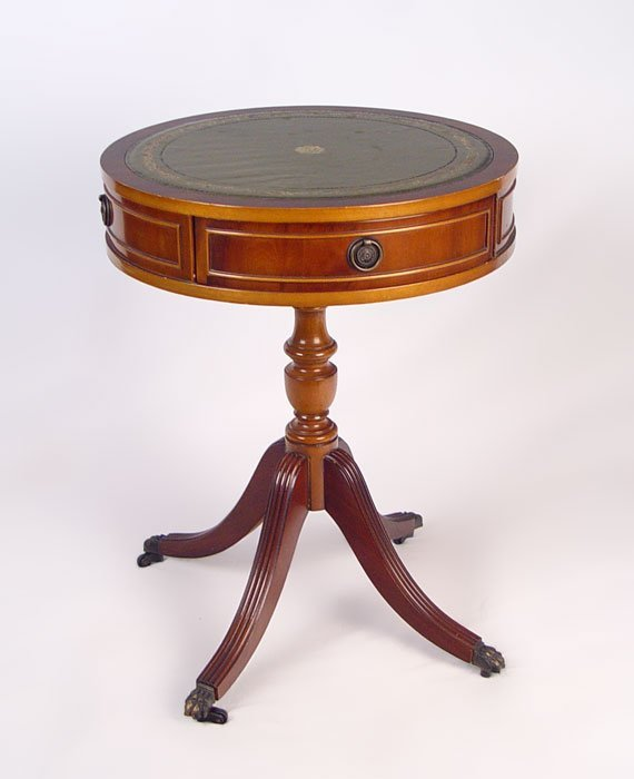 10: GEORGE III STYLE MAHOGANY DRUM TABLE NORMAN LTD