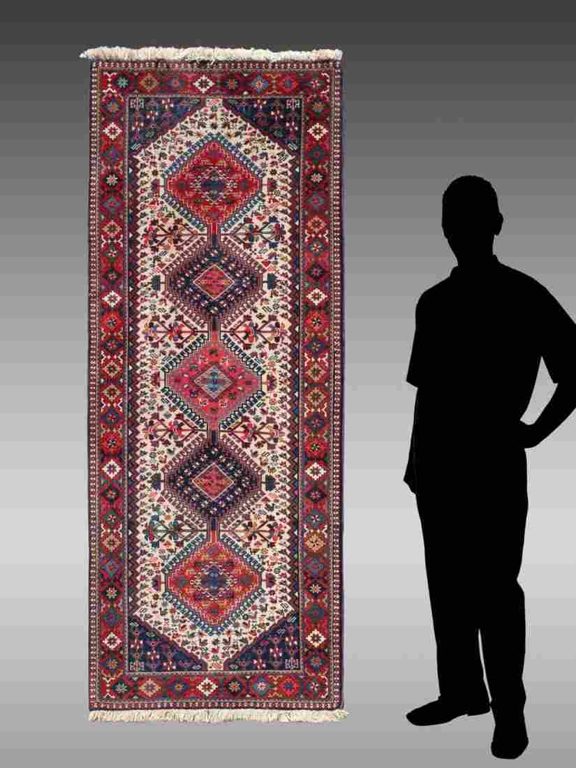 N.W. PERSIAN HAND KNOTTED WOOL RUNNER