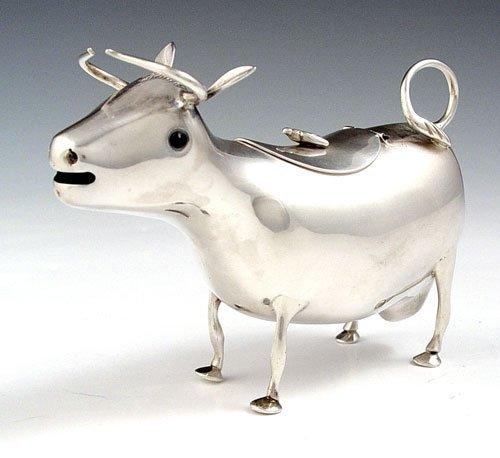 1004: DUTCH SILVER HOOIJKAAS COW PITCHER CA. 1948
