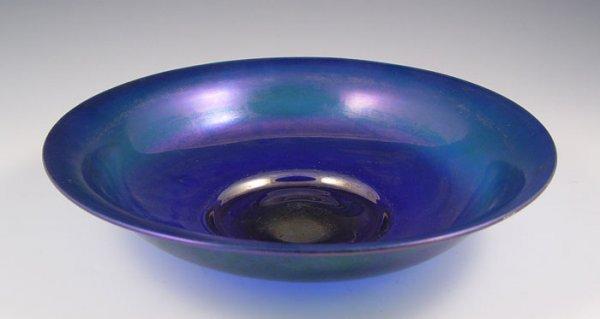 3: STEUBEN BLUE AURENE ART GLASS BOWL
