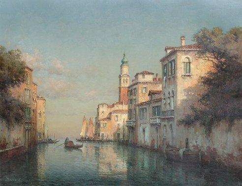 15: BOUVARD VENICE CANAL ITALIAN PAINTING