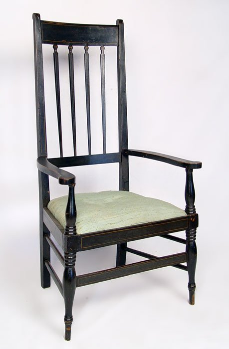 17: PERIOD NEW ENGLAND BALTIMORE HIGHBACK CHAIR 1840