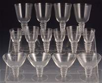 200 14 pc    R LALIQUE FRENCH CRYSTAL STEMWARE
