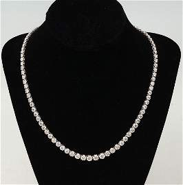 ELEGANT 18K 15.9 CTW DIAMOND NECKLACE