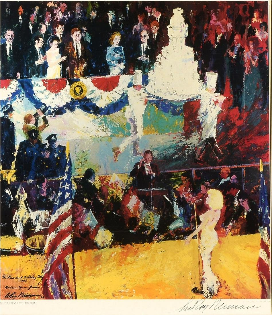LEROY NEIMAN PRESIDENTS' BIRTHDAY PARTY LITHOGRAPH