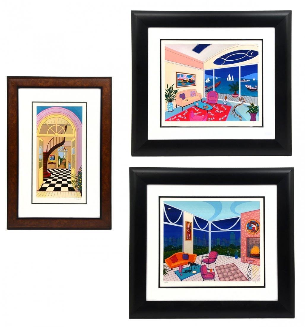 "Fanch Ledan /""Chicago Nights II/"" Serigraph on LE Hand Signed Art"