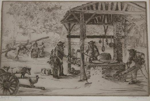 1154: 9 PIECE KENT HAGERMAN FLORIDA ARTIST ETCHING LOT - 3