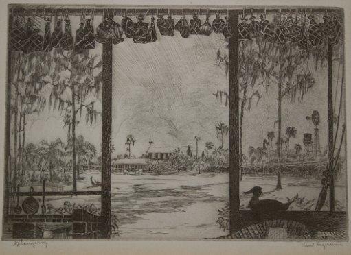 1154: 9 PIECE KENT HAGERMAN FLORIDA ARTIST ETCHING LOT - 7