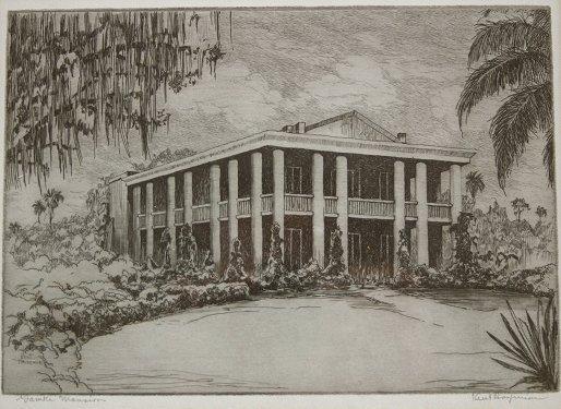 1154: 9 PIECE KENT HAGERMAN FLORIDA ARTIST ETCHING LOT - 9