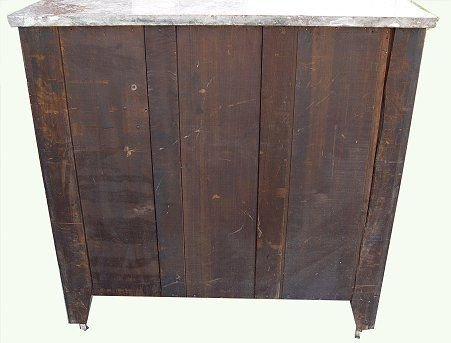1023: VICTORIAN MARBLE TOP FOUR DRAWER CHEST - 2