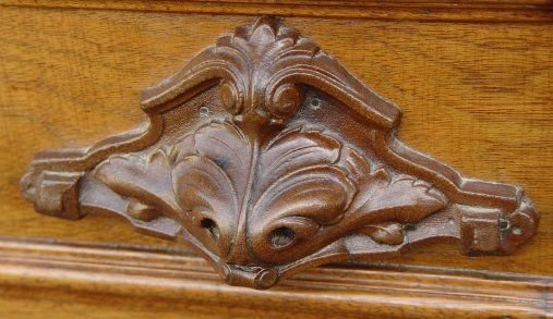 1023: VICTORIAN MARBLE TOP FOUR DRAWER CHEST - 4