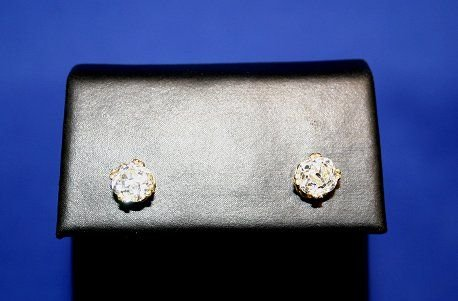1007: MAJESTIC 2.36CTW DIAMOND STUD EARRINGS
