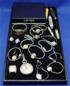 1404: ESTATE GROUP OF WATCHES & POCKET KNIVES