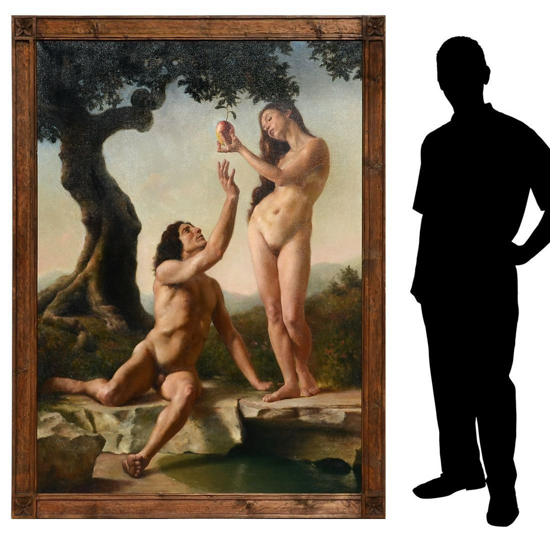 ANTHONY ACKRILL NEARLY LIFESIZE ADAM AND EVE