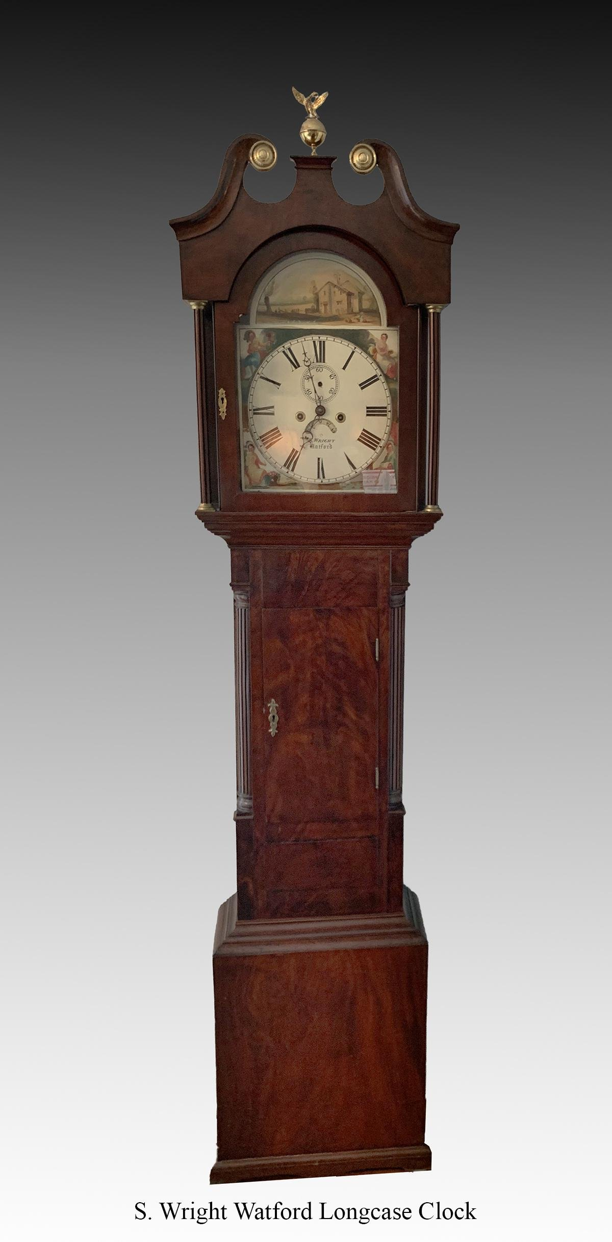 S. WRIGHT WATFORD GRANDFATHER CLOCK