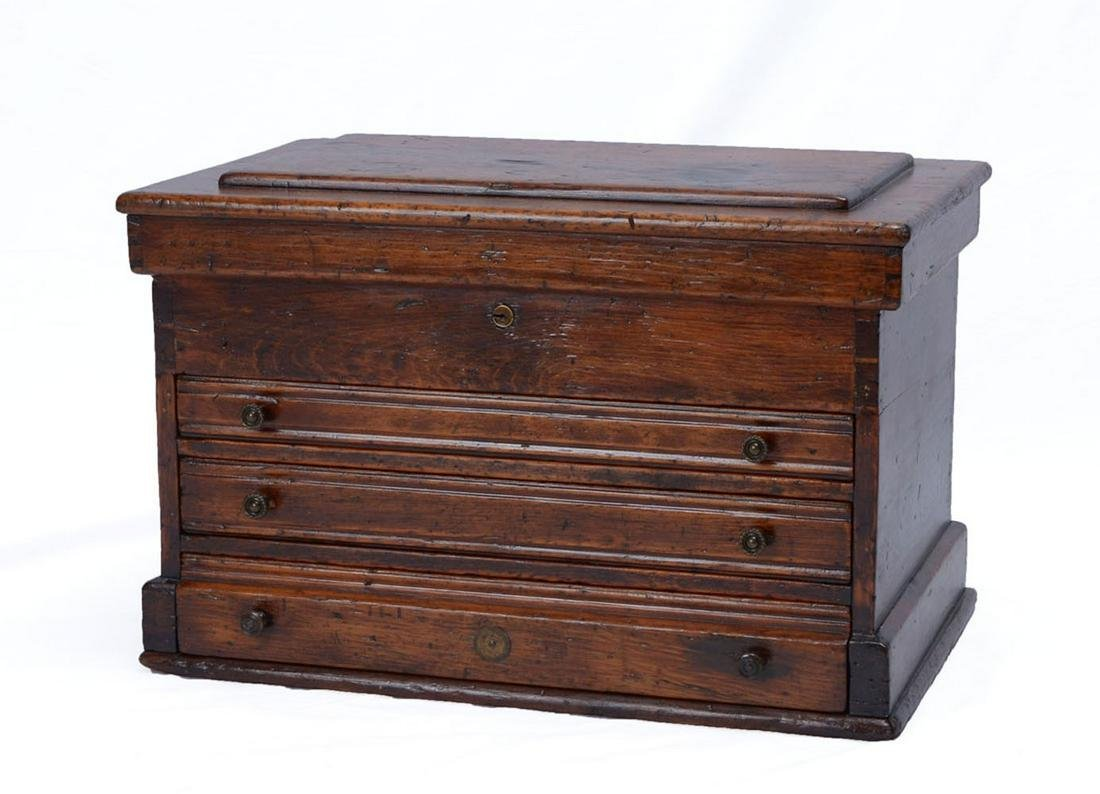 19TH CENTURY WALNUT SILVER CHEST