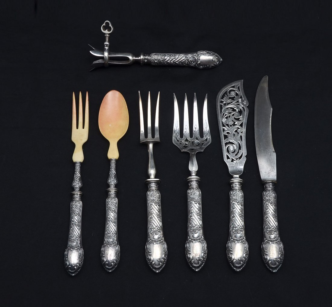 7 PC. CONTINENTAL STERLING SERVING SET