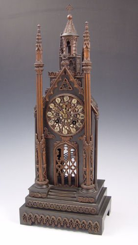 3: JAPY FRERES FRENCH GOTHIC CATHEDRAL CLOCK