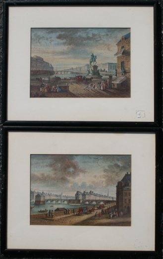 11: PAIR 19TH c. PARISIAN PAINTINGS