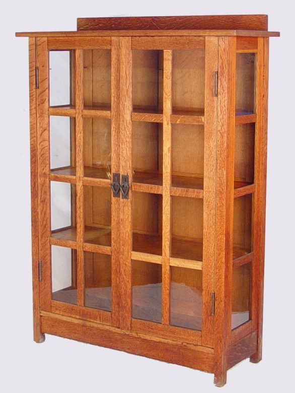 54: GUSTAV STICKLEY CHINA CABINET signed  NR