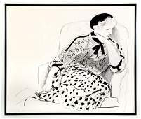 DAVID HOCKNEY ''CELIA IN AN ARMCHAIR''