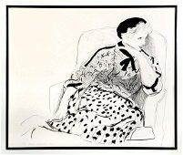 DAVID HOCKNEY ''CELIA IN AN ARMCHAIR''