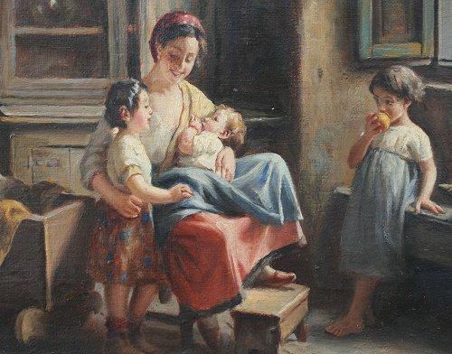 Art Painting On Three