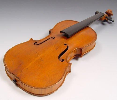 1101A: 1860'S FRENCH BRETON VIOLIN & LIEPZIG BOW - 2