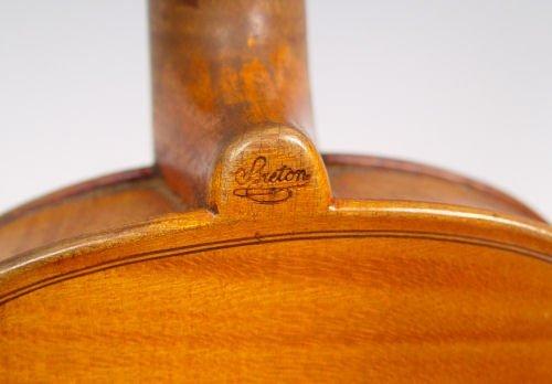 1101A: 1860'S FRENCH BRETON VIOLIN & LIEPZIG BOW - 7