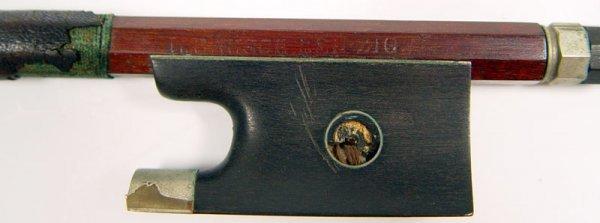 1101A: 1860'S FRENCH BRETON VIOLIN & LIEPZIG BOW - 9