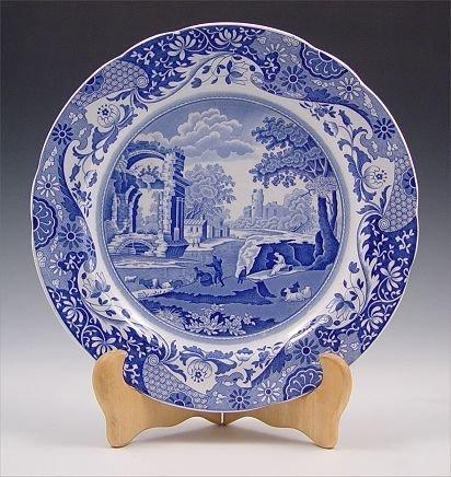 1120: 109 pc COPELAND SPODE BLUE ITALIAN CHINA - 3