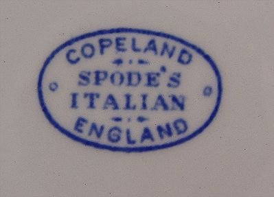 1120: 109 pc COPELAND SPODE BLUE ITALIAN CHINA - 4