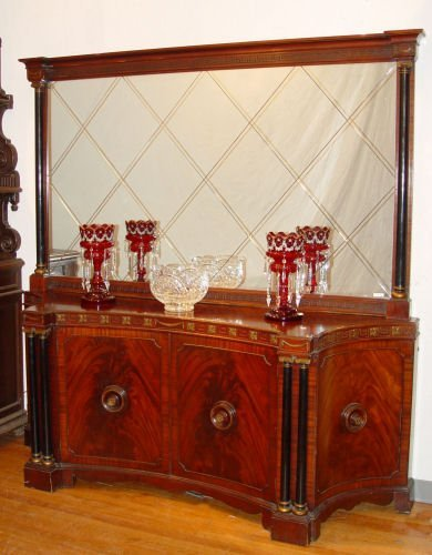 1014: FRENCH EMPIRE STYLE BUFFET WITH MIRROR
