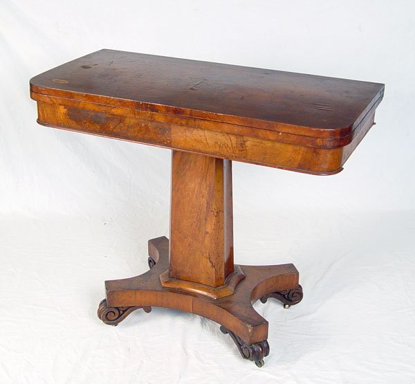 1017A:  EARLY 19TH C ENGLISH GAME TABLE