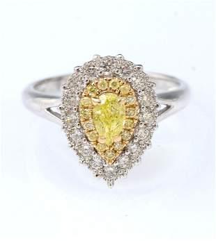 18K YELLOW WHITE DIAMOND RIN