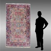 SEMI ANTIQUE PERSIAN KERMAN HK WOOL RUG, 4