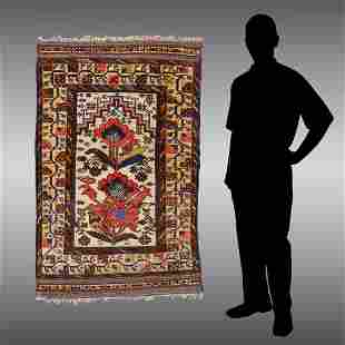 TURKISH HK SOUMAK FLATWEAVE WOOL PRAYER RUG