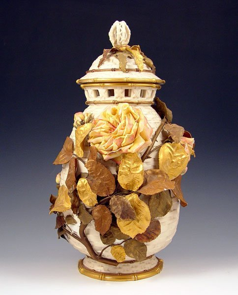 12: CALLOWHILL RABY 15'' WORCESTER POTPOURRI VASE JAR